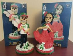 2020 DODGERS DAY OF THE DEAD GIRL BOY SET MEXICO COLORS MLB