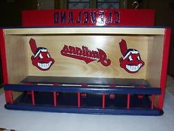 Cleveland Indians Bobble heads Dugout display case with Slid