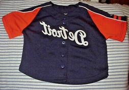 DETROIT TIGERS  === Child Button-Down Jersey/Top by Majestic