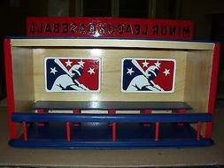 MINOR LEAGUE BASEBALL Bobble heads display case Handcrafted