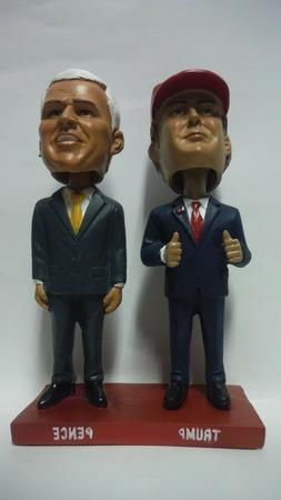 POLITICAL BOBBLE HEADS NEW IN THE BOX - DONALD TRUMP & MIKE